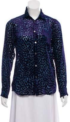 Junya Watanabe Long Sleeve Button-Up Blouse