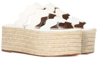 Chloé Lauren leather platform sandals