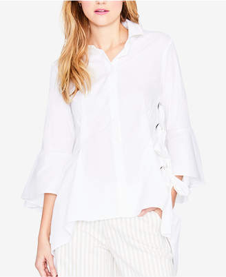 Rachel Roy Bell-Sleeve Lace-Up Blouse, Created for Macy's