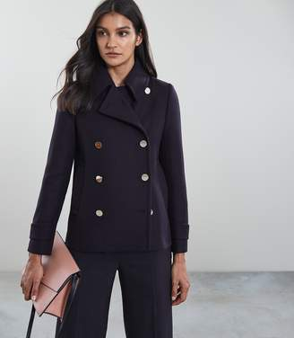 Reiss Becall Button Detail Pea Coat