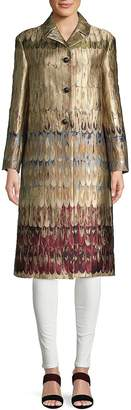 Valentino Women's Graphic Notch Lapel Coat