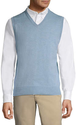 ST. JOHN'S BAY Mens V Neck Sweater Vest