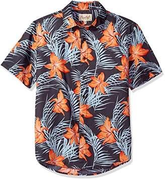 Margaritaville Men's Relaxed Fit Short Sleeve 100% Cotton BBQ Shirt