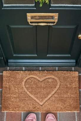Next XL Heart Embossed Doormat