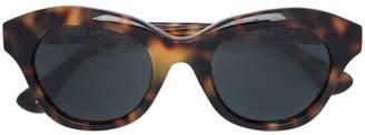Linda Farrow blurred leopard print sunglasses