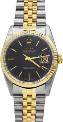 Rolex Pre-Owned Men's 36mm 18k Gold Datejust Bracelet Watch