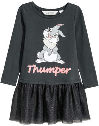 H&M Dress with Tulle Skirt - Black