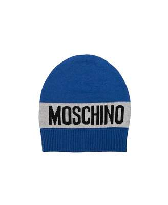 Moschino Bold Logo Beanie Hat Colour: BLUE, Size: Age 12-14