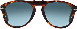 Persol Po0649 54 Brown Pilot Sunglasses