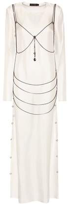 Calvin Klein Collection Goseli silk dress with body chain