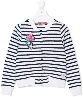 Vingino appliquéd striped bomber jacket