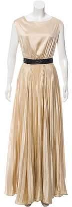 Alice + Olivia Silk Pleat Gown