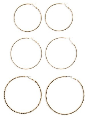Women's Bp. 3-Pack Large Hoop Earrings $19 thestylecure.com