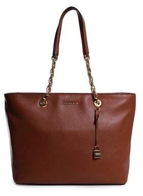 Michael Kors Mercer Medium Chain-link Leather Tote - Brown - 30H6GM9T9L-230