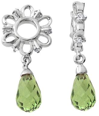 Brio Storywheels S240P Silver Diamond Wheel with Peridot Dangle Containing 1 Peridot, 6 Diamond