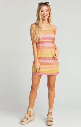 Show Me Your Mumu Clarissa Dress ~ Fiesta Sunset Stripe