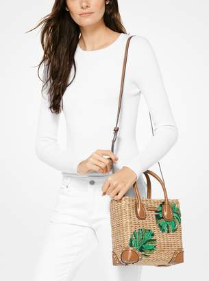 1b270081b49c at Michael Kors · MICHAEL Michael Kors Malibu Palm Embroidered Woven Straw  Crossbody