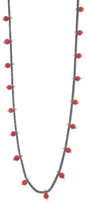 Ten Thousand Things Coral Studded Foxtail Chain Necklace