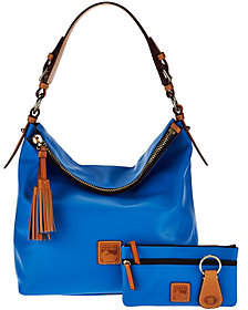 Dooney & Bourke Smooth Leather Hobo withAccessories - ONE COLOR - STYLE