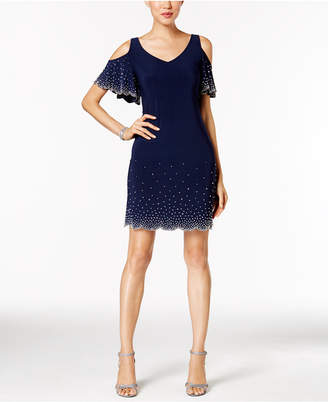 Msk Beaded Cold-Shoulder Cocktail Dress $109 thestylecure.com