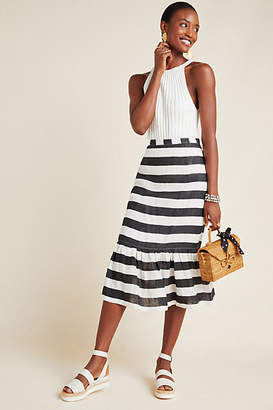 Tracy Reese Hope for Flowers by Cleo Striped Midi Skirt