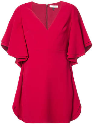 Halston wide sleeve minidress