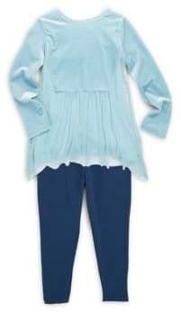 Splendid Baby Girl's Two-Piece Velour Top & Leggings Set