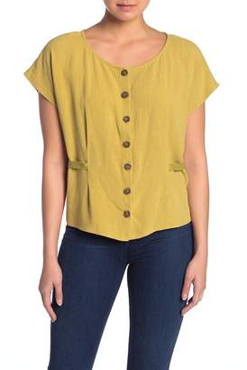 CODEXMODE Button Front Tie Back Top