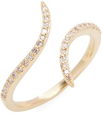 Danni Women's 14K Yellow Gold Diamond Bypass Ring
