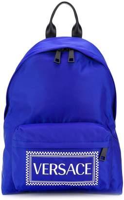 Versace vintage logo print backpack