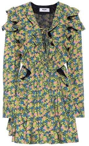 Bedrucktes Minikleid aus Baumwolle