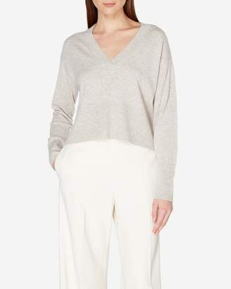 N.Peal Deep V Neck Cropped Cashmere Sweater