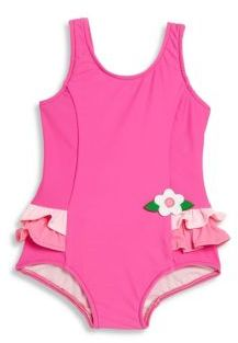 Florence Eiseman Baby's, Toddler's & Little Girl's One-Piece Ruffled Swimsuit $60 thestylecure.com