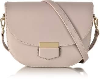 Le Parmentier Clio Smooth Leather Shoulder Bag w/Flap