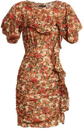 Isabel Marant Face floral-print ruffle-trimmed dress