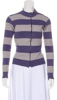 agnès b. Striped Knit Cardigan Blue Striped Knit Cardigan