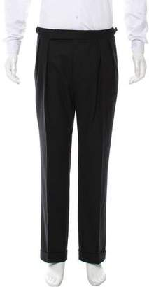 Ralph Lauren Purple Label Cropped Flat Front Dress Pants