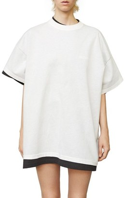 Women's Vetements X Hanes Oversized Double Tee $740 thestylecure.com
