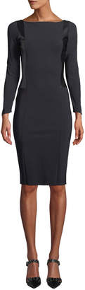 Chiara Boni Accursia Body-Con Dress w/ Pleather Panels