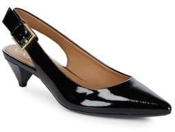 Calvin Klein Lara Leather Slingback Pumps