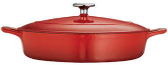 Tramontina Gourmet Enameled Cast Iron 4 Qt. Cast Iron Round Braiser with Lid
