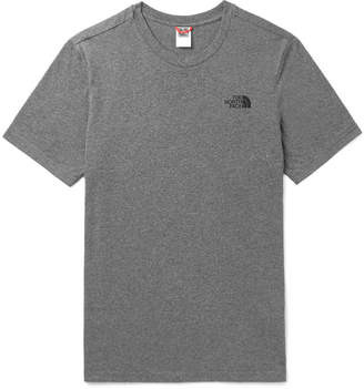 The North Face Dome Logo-Print Mélange Cotton-Blend Jersey T-Shirt