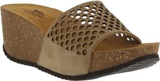 Spring Step Laser-Cut Suede Sandals - Marni