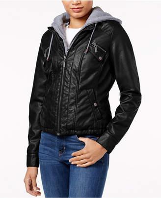 Joujou Jou Jou Juniors' Faux-Fur-Lined Faux-Leather Jacket