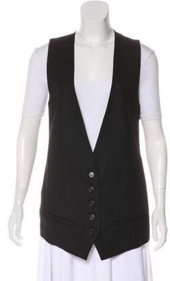 Kris Van Assche Silk-Blend Button-Up Vest w/ Tags