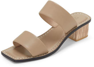 Mercedes Castillo Lavinia Two-Band Leather Slide Sandals