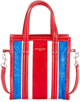 Balenciaga XXS Bazar Striped Shopper Tote Bag