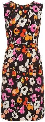 OSCAR DE LA RENTA Sleeveless floral-print silk pencil dress $2,190 thestylecure.com
