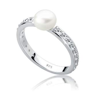 Perlu 608860112 925 Sterling Silver Ring white