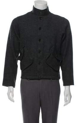Billy Reid Cropped Wool Herringbone Jacket